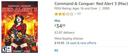 Command and Conquer on Mac Red Alert
