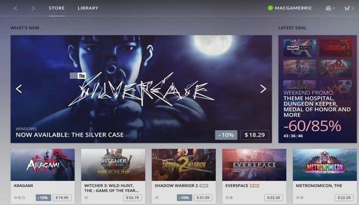 Gog download mac games