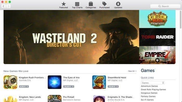Mac App Store mac games downloads