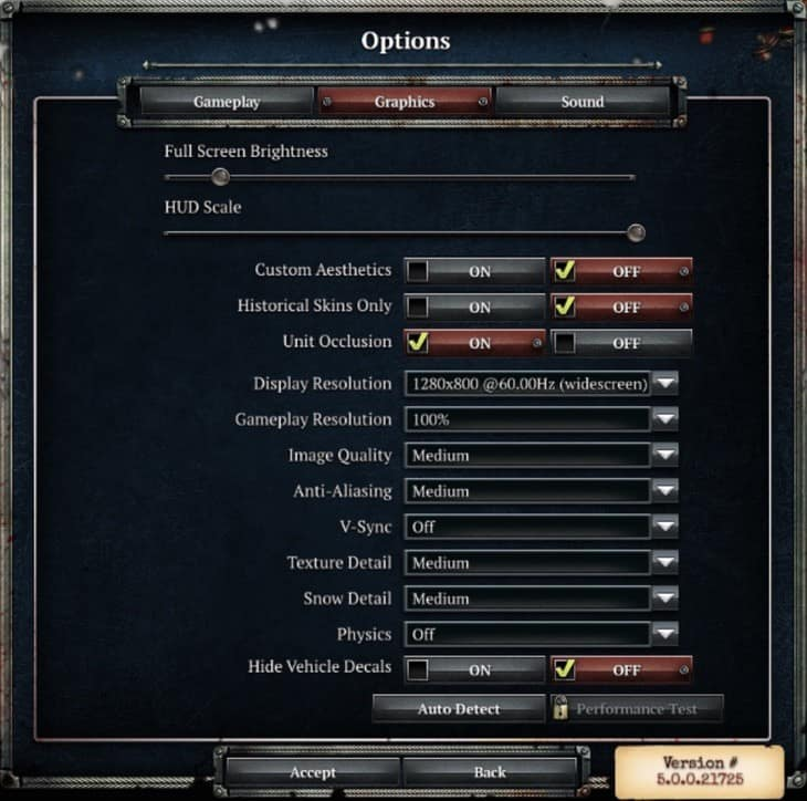 Company of Heroes 2 settings