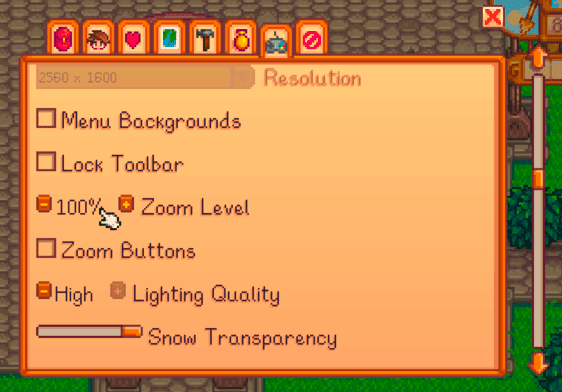 Stardew Valley Mac settings