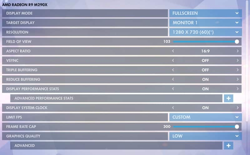 Overwatch Mac settings
