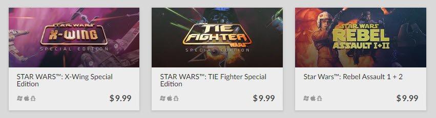 Star Wars Mac games GOG