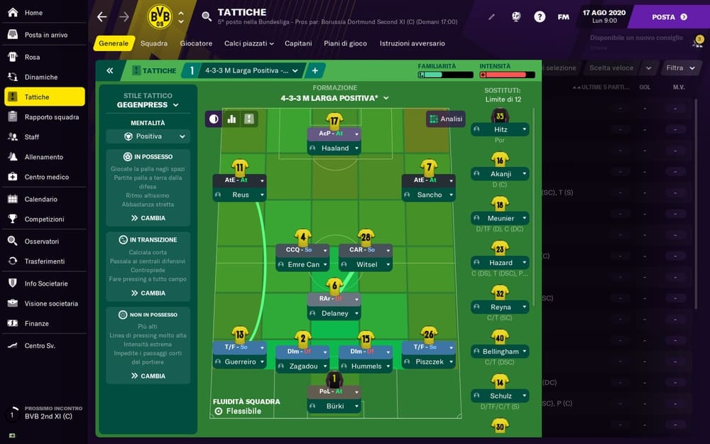 Football Manager 2021 Mac gameplay