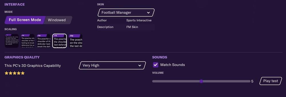 Football Manager 2021 Mac settings