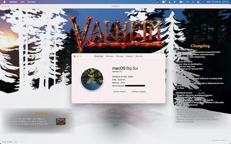 Valheim on M1 Mac