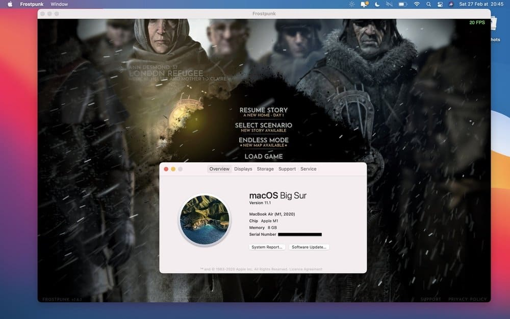 Frostpunk on M1 Mac Apple Silicon