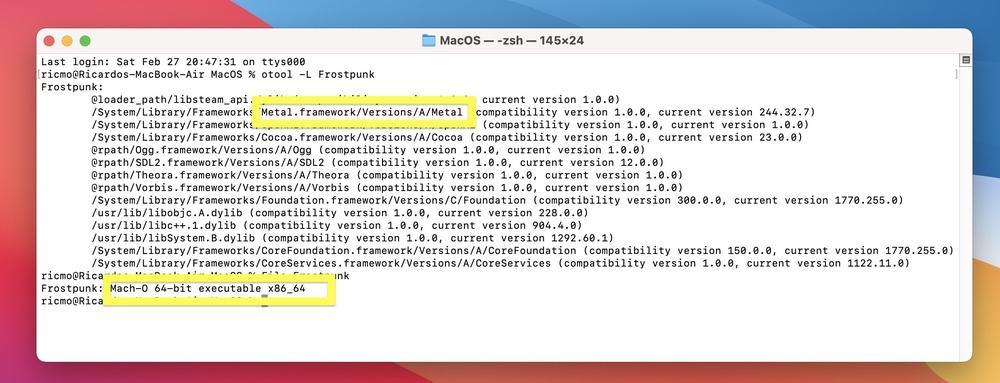 Frostpunk on M1 Mac Rosetta 2 support