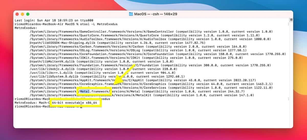 Metro Exodus on M1 Mac Rosetta 2 support