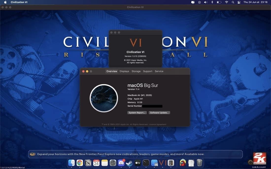 Civilization 6 on M1 Mac