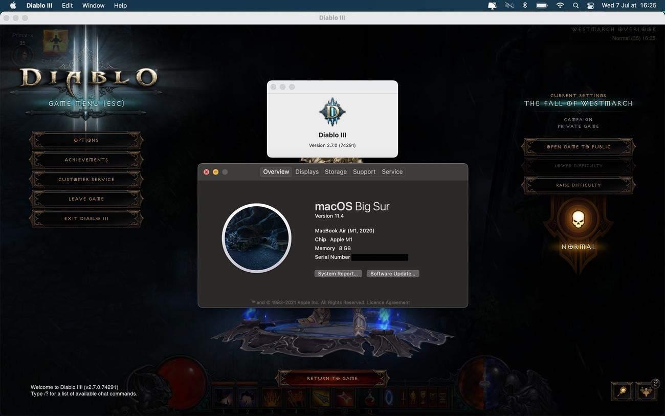Diablo 3 running on M1 Mac 2